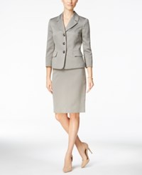 Le Suit Three Button Skirt Oyster