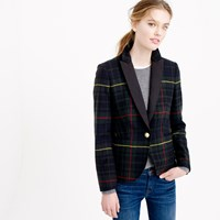 J.Crew Petite Collection Campbell Blazer In Tartan