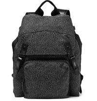 Lanvin Technical Linen Backpack Black