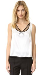 Marc Jacobs Sleeveless V Neck Top White