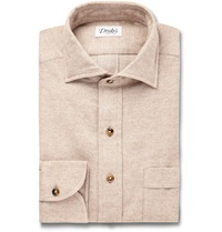 Drakes Sand Woven Cotton Shirt Neutrals