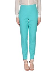 Byblos Trousers Casual Trousers Women Turquoise