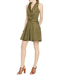Ralph Lauren Sleeveless Shirt Dress Olive