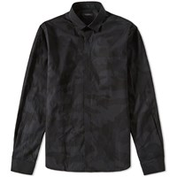 Valentino Camouflage Placket Shirt Black