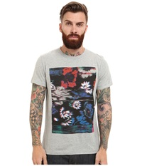 French Connection Flower Glitch Grey Melange Men's Clothing Gray