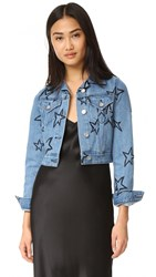 Etre Cecile Cropped Denim Jacket Light Blue