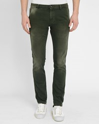 Selected Khaki Two Mario Faded Slim Fit Jeans