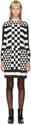 Valentino Black And White Geometric Patterned Dress