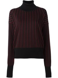Y Project Striped Roll Neck Sweater Black