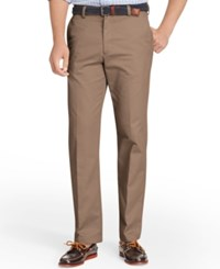 Izod American Straight Fit Flat Front Wrinkle Free Chino Pants Decaf Coffee