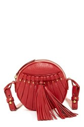 Cynthia Vincent Billy 2 Leather Tassel Crossbody Red