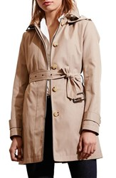 Lauren Ralph Lauren Women's Hooded Rain Coat Sand