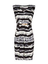 Mela Loves London Stripe Belted Dress Black