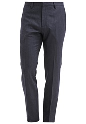 Banana Republic Trousers Navy Heather Dark Blue
