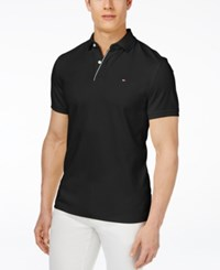 Tommy Hilfiger Men's Big And Tall Paul Polo Black