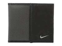 Nike Leather Tech Twill Billfold Dark Grey Bill Fold Wallet Gray