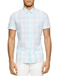 Calvin Klein Short Sleeve Shirt White Blue