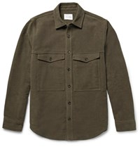 Steven Alan Teven Bruhed Cotton Hirt Jacket Army Green