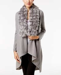Alfani Faux Fur Trim Cardigan Only At Macy's Modern Metal