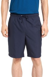 Lacoste Men's 'Sport Diamante' Drawstring Athletic Shorts Navy Blue