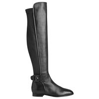 Lk Bennett L.K. Bennett Delila Flat Knee High Boots Black Nappa Leather