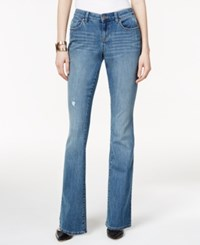 Styleandco. Style And Co. Ripped Sea Glass Wash Curvy Fit Flared Jeans Only At Macy's