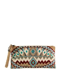 Mary Frances Turquoise Power Clutch Multi