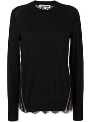 Mcq By Alexander Mcqueen Lace Panel Jumper Black