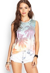 Forever 21 Palm Tree Muscle Tee