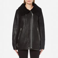 Gestuz Women's Lulle Shearling Jacket Black