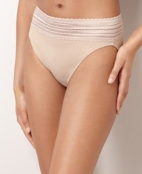Warner's No Pinching No Problems High Cut Lace Hi Cut Brief 5109 Toasted Almond