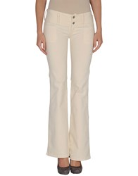 Guess Jeans Trousers Casual Trousers Women Beige