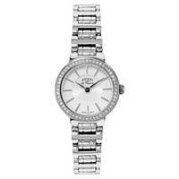 Rotary Lb90081 02 Women's Lucerne Stainless Steel Bracelet Strap Watch Silver