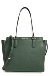 Michael Michael Kors 'Large Deedee' Convertible Tote Green Moss