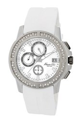 Kenneth Cole Women's Leather Strap Watch White