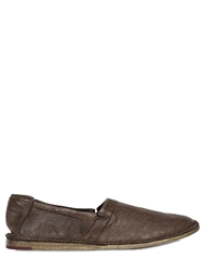 Bruno Bordese Washed Leather Loafers Brown