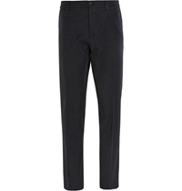 Dolce And Gabbana Slim Fit Cotton Twill Trousers Gray