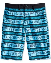 American Rag Men's Taco Truck Graphic Print Stripe Hybrid Shorts Only At Macy's Rip Tide