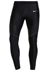 Nike Performance Power Flash Speed Tights Black Reflective Silver