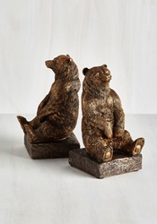 A Tale Of Two Grizzlies Bookends Mod Retro Vintage Desk Accessories Modcloth.Com