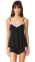 Only Hearts Club Venice Low Back Cami Black Mystic