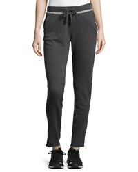 Marc Ny Performance Raw Edge Trim Jogger Pants Charcoal Lime
