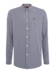 Lyle And Scott Gingham Check Long Sleeve Shirt White