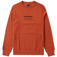 Mhi Maharishi Miltype Crew Sweat Orange