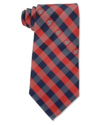 Eagles Wings Washington Nationals Checked Tie