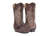 Roper Native Brown Burnished Cowboy Boots