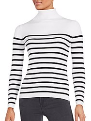 Saks Fifth Avenue Tonal Stripe Top White