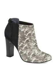 Trina Turk Wilshire Leather And Calf Hair Ankle Boots Black