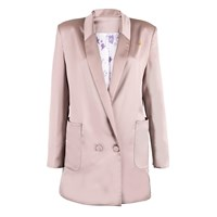 Mcma London Nude And Rose Silk Blazer Nude Neutrals