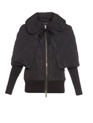 Moncler Avery Detachable Cape Quilted Coat